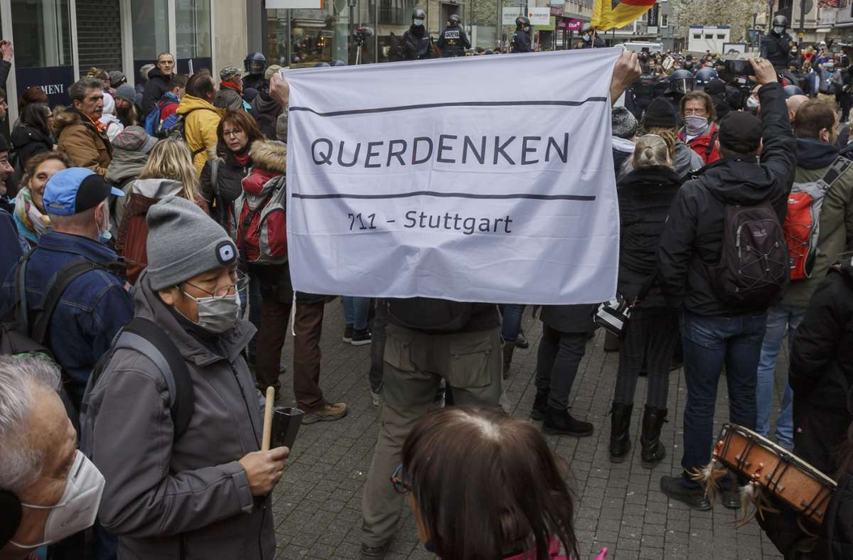 """Youtube hat den Kanal der Gruppierung """"Querdenken 711"""" gelöscht. Foto: Lichtgut/Julian Rettig"""