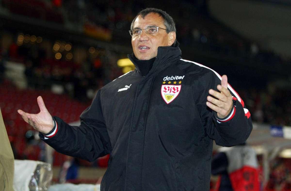 Felix Magath im Jahr 2004 als VfB-Trainer. Foto: imago images / Avanti
