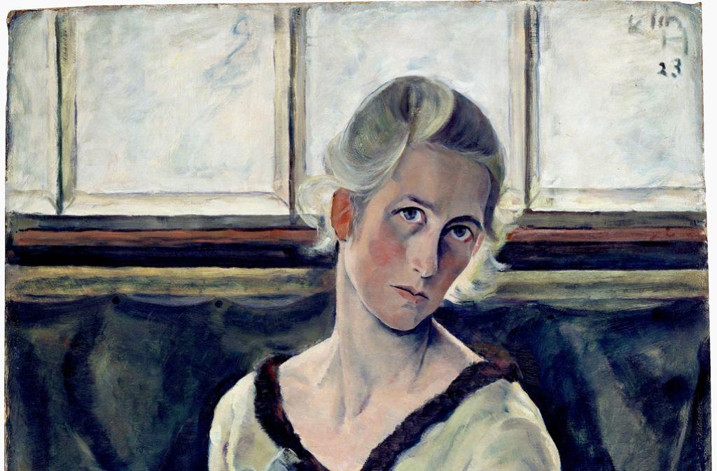 Verwitwet und alleinerziehend, künstlerisch aber sind es ihre besten Jahre:  Selbstbildnis von 1923 Foto: Staatsgalerie/Sammlung Borst