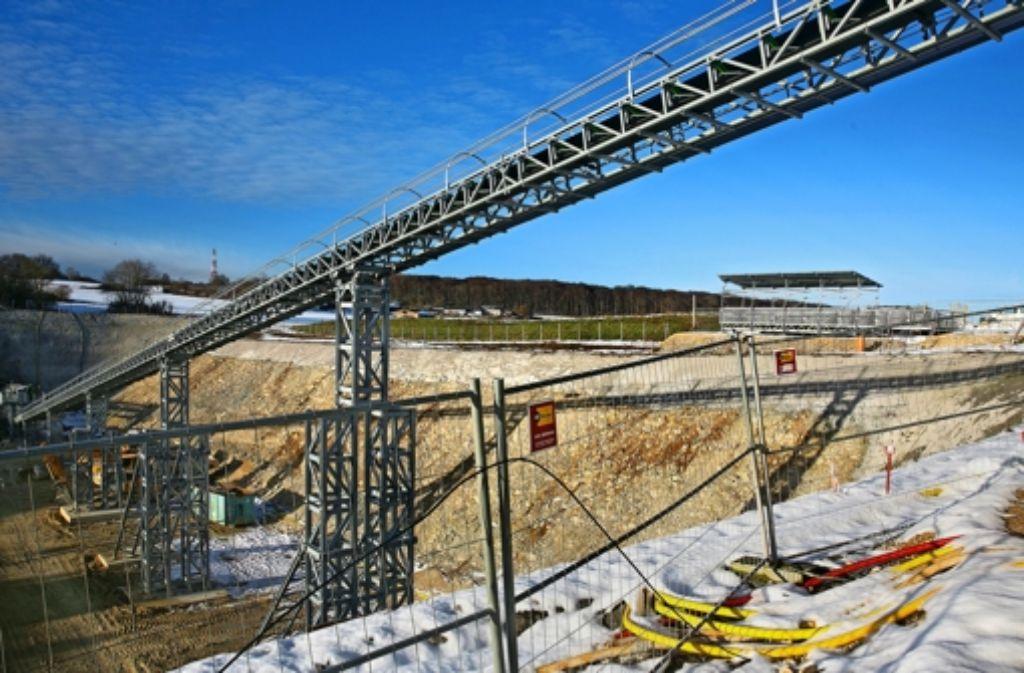 Das Tunnel-Förderband löst in Hohenstadt nicht alle Probleme Foto: Rudel/Archiv