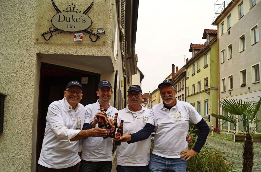 Die Vereinsmitglieder: Helmut Haberern, Dirk Füchsle, Wolfgang Lüneberg und Helmut Vogt (von links). Foto: Andrea Eisenmann