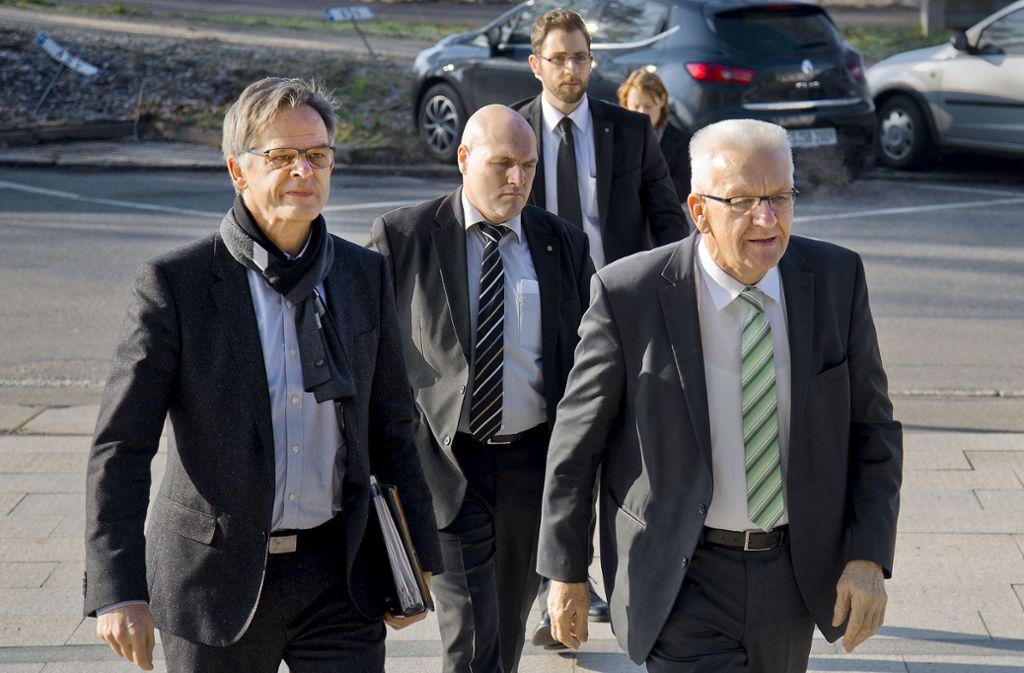 Kretschmanns Mann für die Medien: Regierungssprecher Rudi Hoogvliet (links) Foto: Kaier