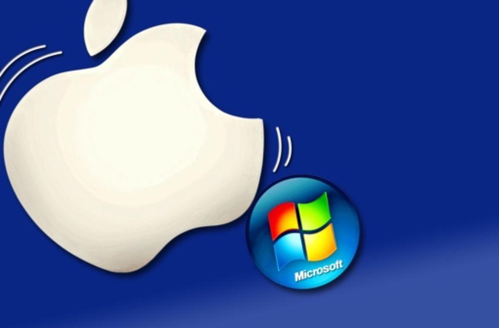 Microsoft bläst zum Angriff auf den Marktführer Apple. Foto: AFP