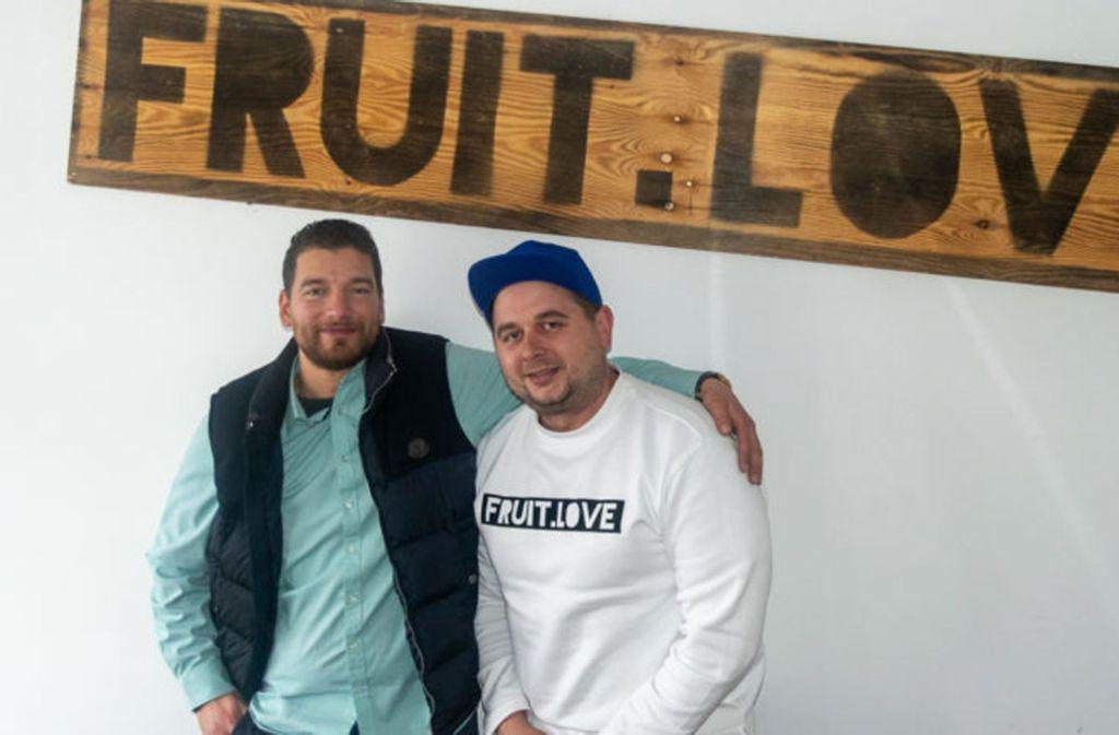 Cem und Konstantin sind die Gründer des Startups Fruit.Love. Foto: Jenny Erck