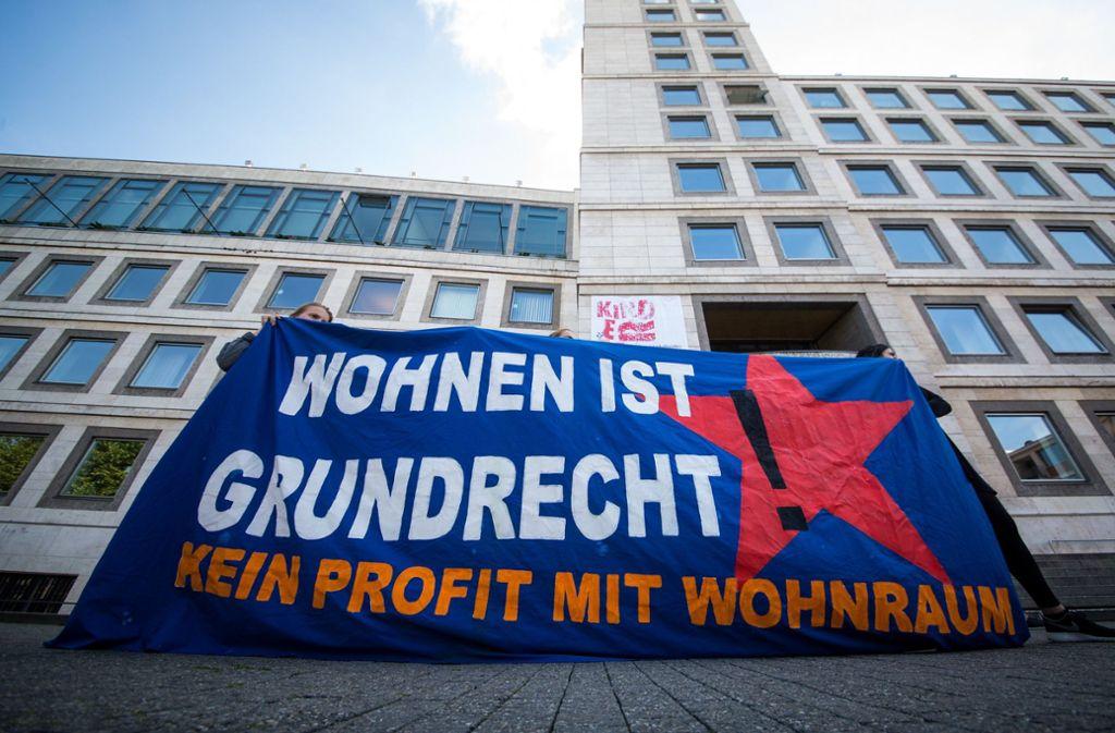 In mehreren Städten – wie hier in Stuttgart – hat es Proteste gegen die Wohnungsnot gegeben Foto: dpa