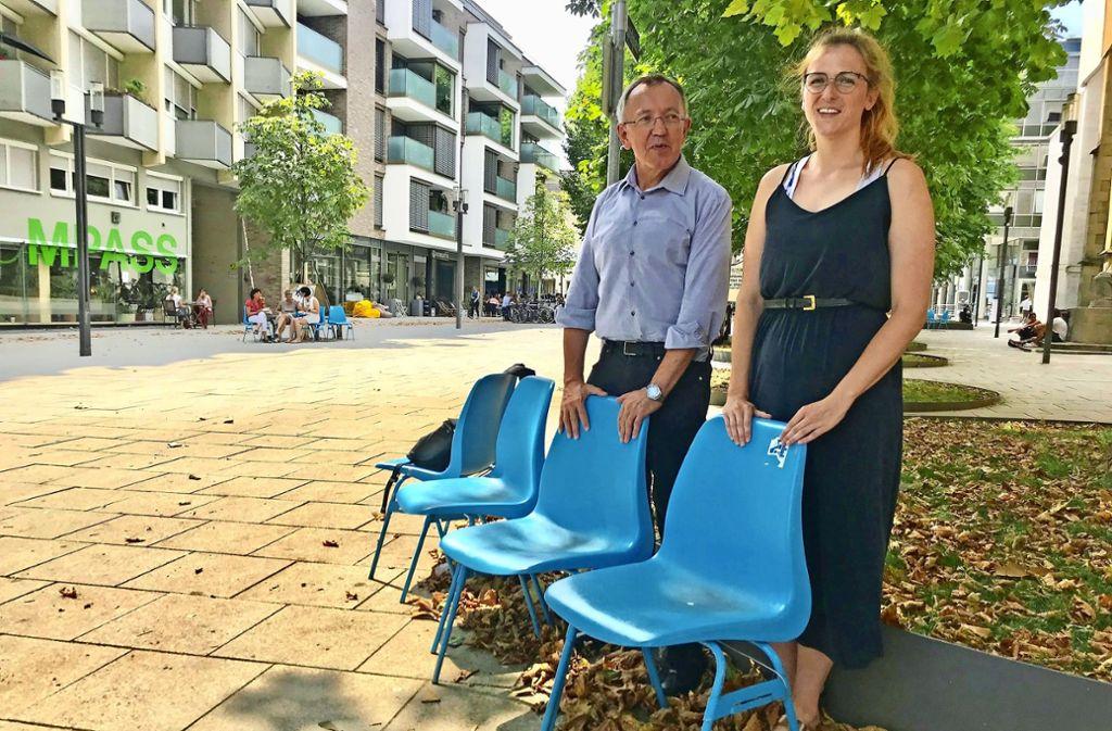 Neu  in der Geschäftsstelle: Marie-Luise Reck, neben ihr Eberhard    Schwarz. Foto: Martin Haar