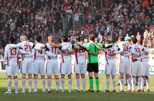 Der VfB Stuttgart gedenkt der Opfer des Amoklaufs