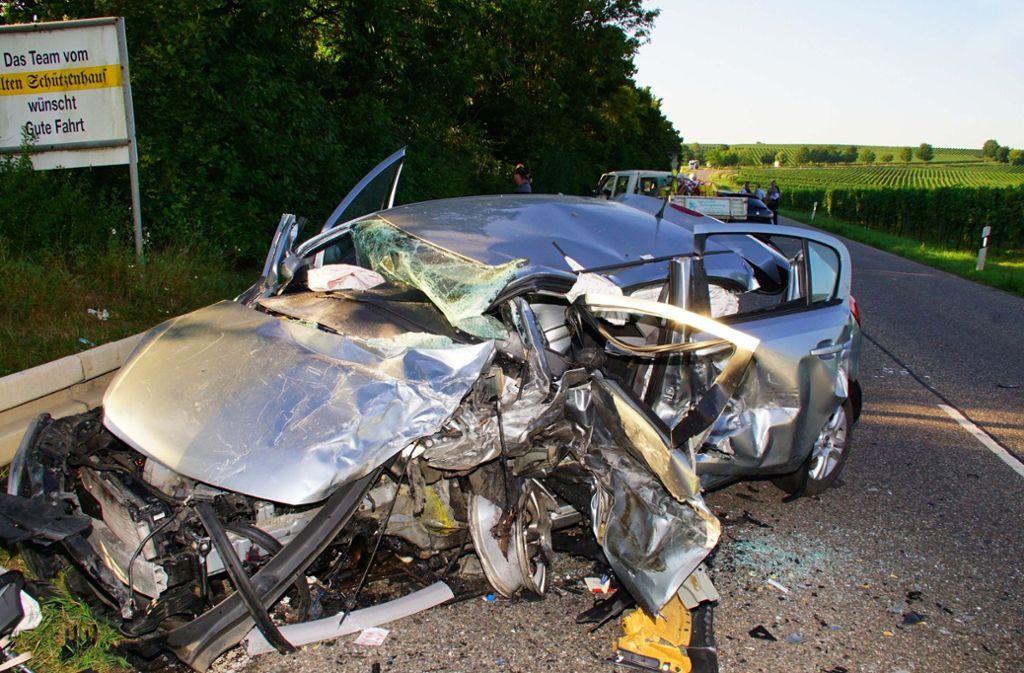 Ein schlimmer Unfall ereignete sich auf der Bundesstraße 27. Foto: Andreas Rosar Fotoagentur-Stuttg