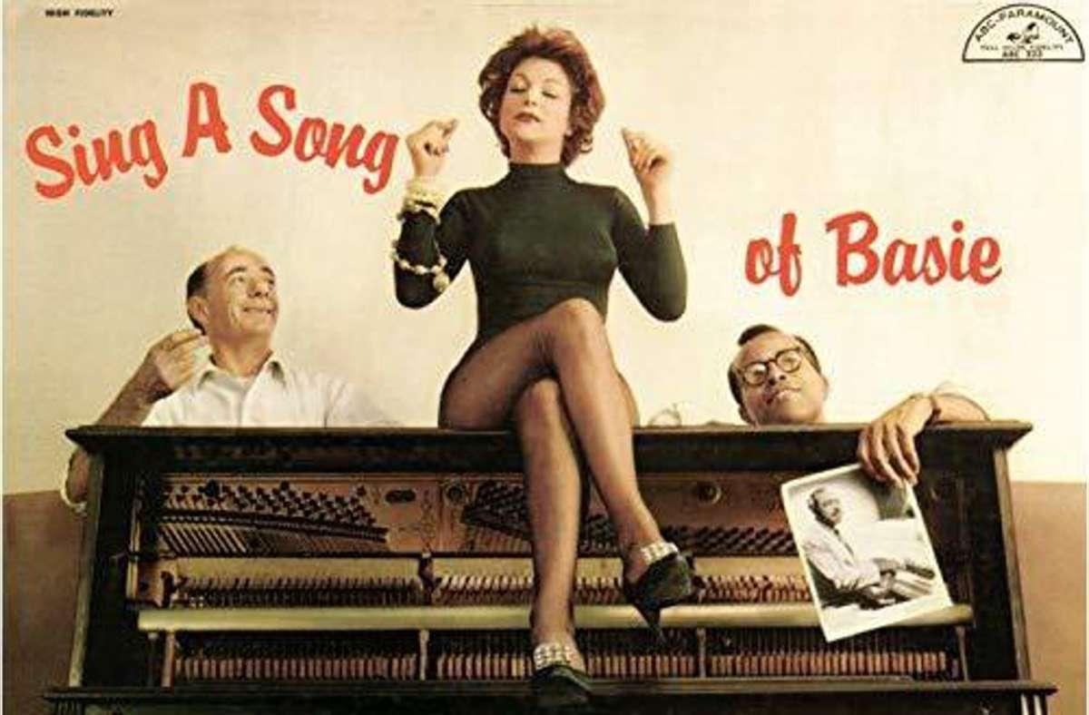 Annie Ross mit Dave Lambert (li.) und Jon Hendricks auf einem Plattencover von 1957 Foto: Verve
