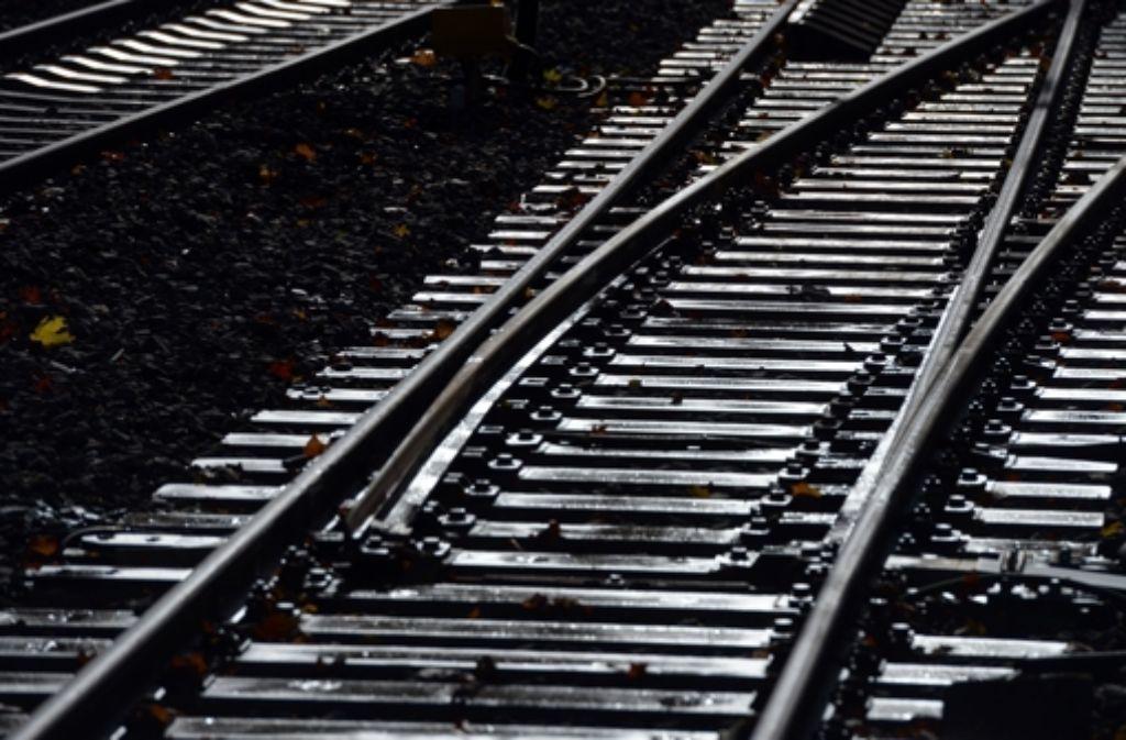 Eine Person auf den Gleisen hat am Dienstag für eine Streckensperrung zwischen Esslingen und Plochingen gesorgt. Foto: dpa/Symbolbild