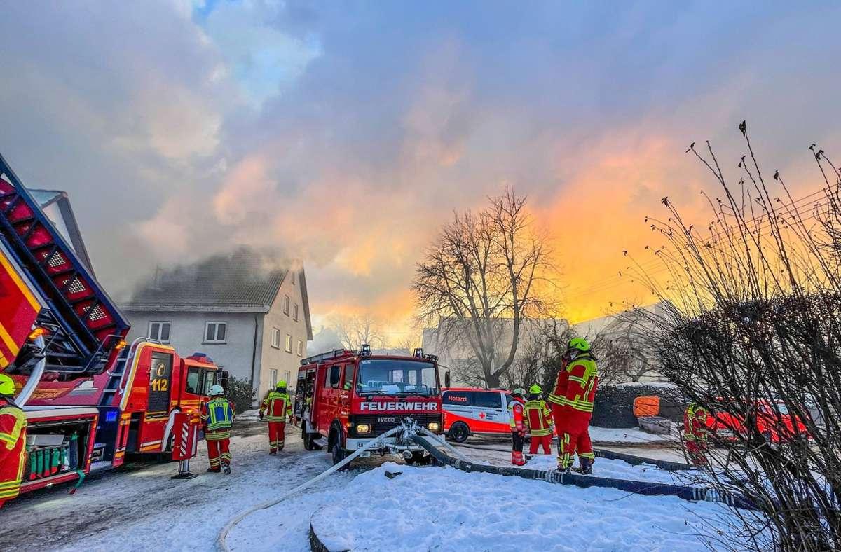 Großeinsatz der Feuerwehr in Amstetten. Foto: 7aktuell.de/Christina Zambito/7aktuell.de   Christina Zambito