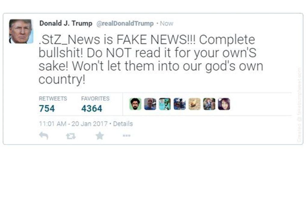 Was würde Donald Trump wohl über die Stuttgarter Zeitung twittern? Womöglich etwas in dieser Richtung. Foto: Red