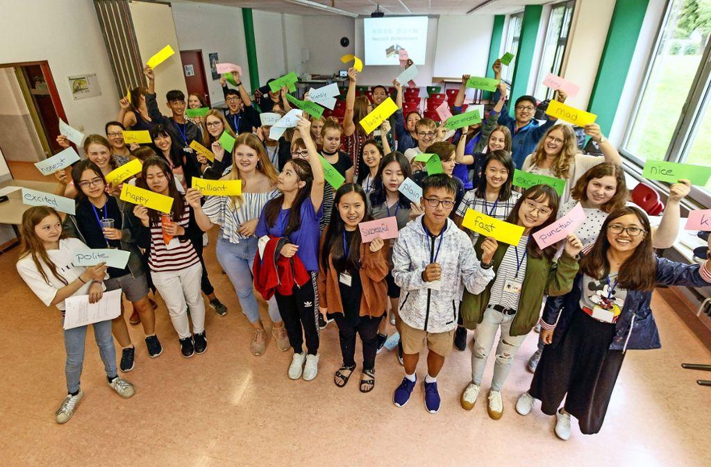 Excited – happy – brilliant: Die Taiwanesen und die Weil der Städter lernen sich erst einmal gut kennen. Foto: factum/Bach