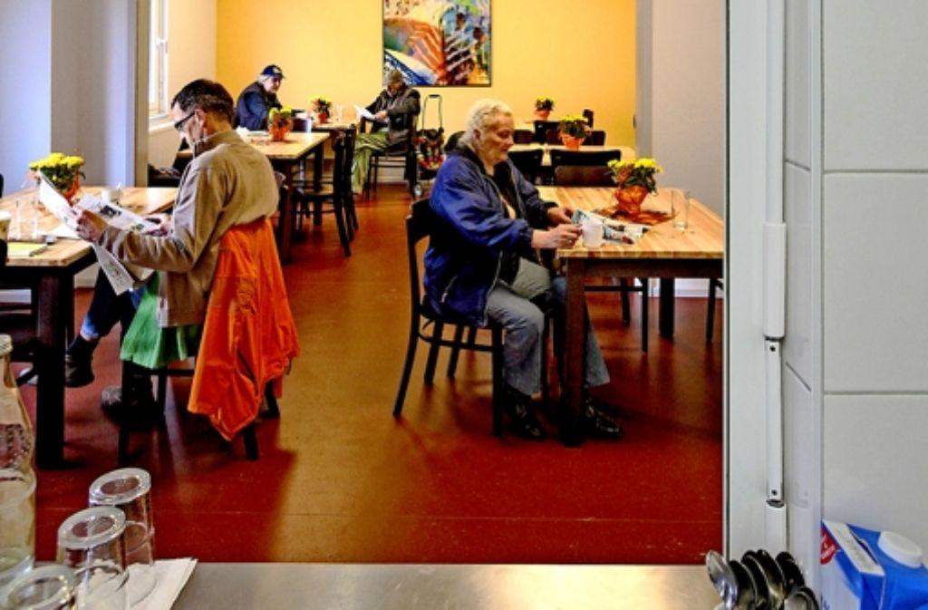 Der Speisesaal der Wohnungslosenhilfe ist nun doppelt so groß wie zuvor. Foto: factum/Granville