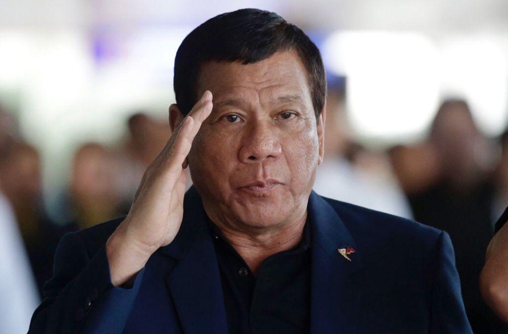 Rodrigo Duterte ist Präsident der Philippinen Foto: AP