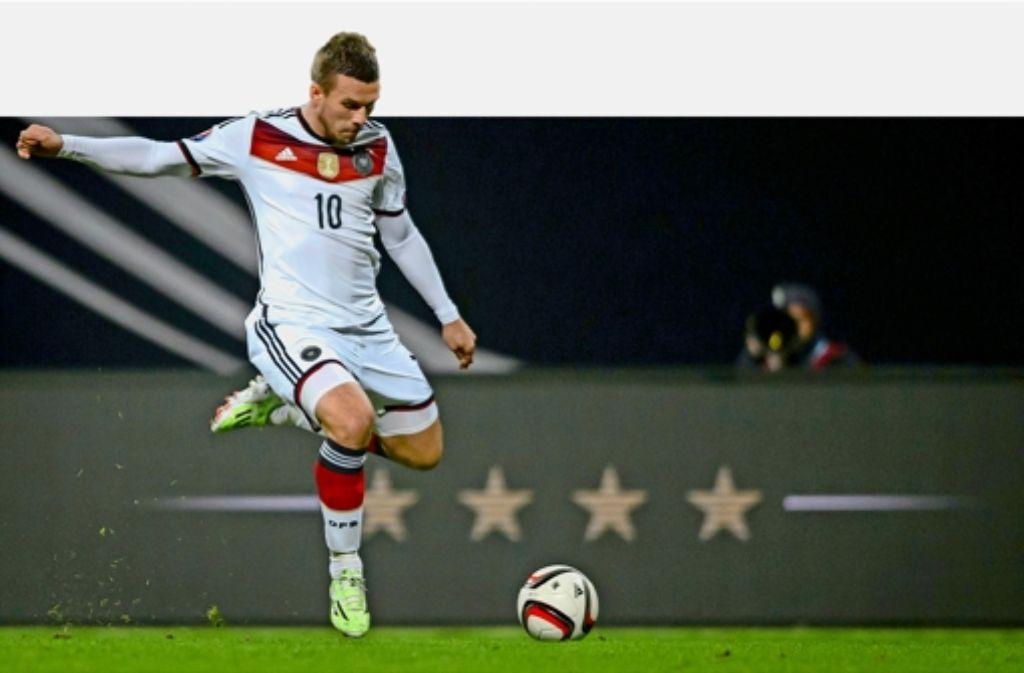 Lukas Podolski kickt künftig für Galatasaray Istanbul. Foto: dpa