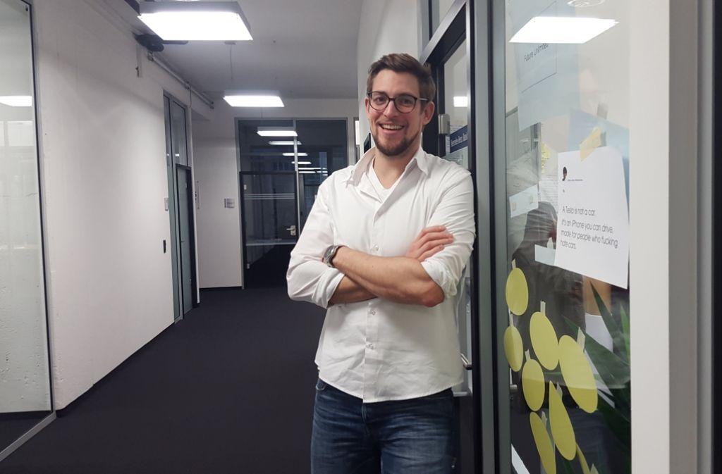 Für Johannes Ellenberg, Geschäftsführer von Accelerate Stuttgart, ist die Übernahme ein Schritt in eine gesicherte wirtschaftliche Zukunft. Foto: Kathrin Wesely
