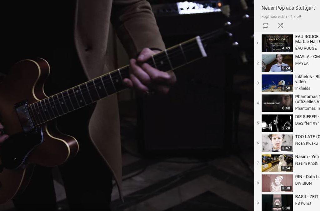 Mit unserer Youtube-Playlist bleiben Sie an neuem Pop aus Stuttgart dran. Foto: Youtube / Screenshot