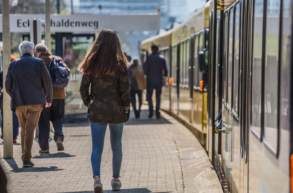 An diesem Wochenende ist die U-Bahnstrecke zwischen Eckartshaldenweg und Stadtbibliothek unterbrochen. Foto: Lichtgut/Julian Rettig