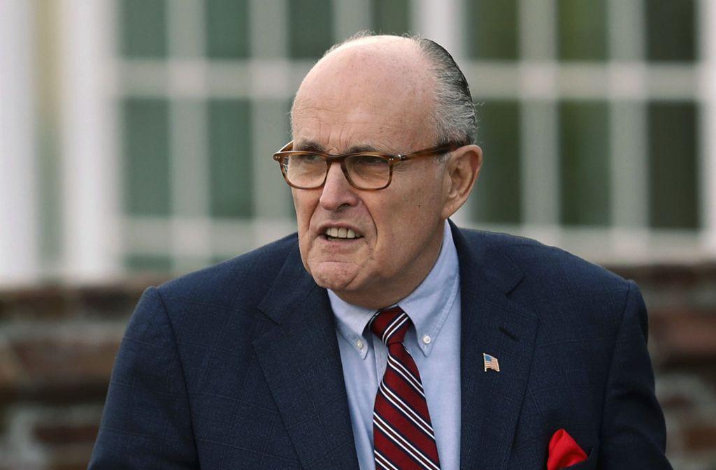 Rudy Giuliani ist der neue Anwalt von US-Präsident Donald Trump. Foto: AP