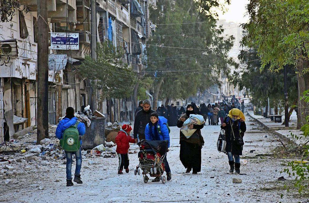 Das Leid der Menschen in Aleppo wird immer schlimmer Foto: dpa