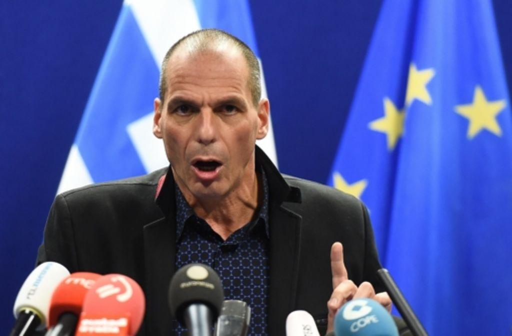Mit seinem resoluten Aufreten hat der griechische Finanzminister Giannis Varoufakis in Brüssel viel Porzellan zerschlagen. Foto: AFP