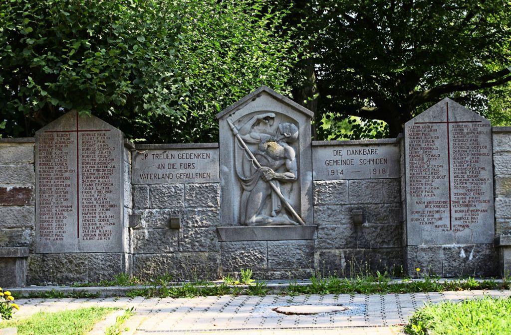 Das Kriegerdenkmal auf dem Schmidener Friedhof. Foto: Patricia Sigerist