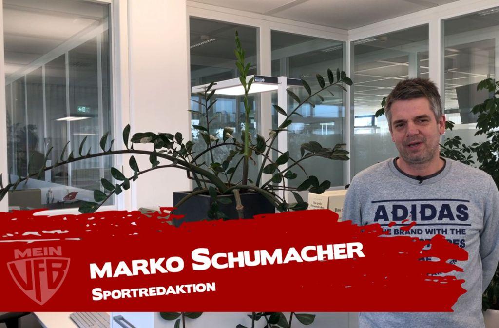 Sportredakteur Marko Schumacher analysiert den 3:0-Erfolg des VfB Stuttgart. Foto: StZN