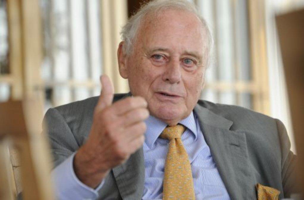 Reinhold Würth ist unzufrieden Foto: dpa