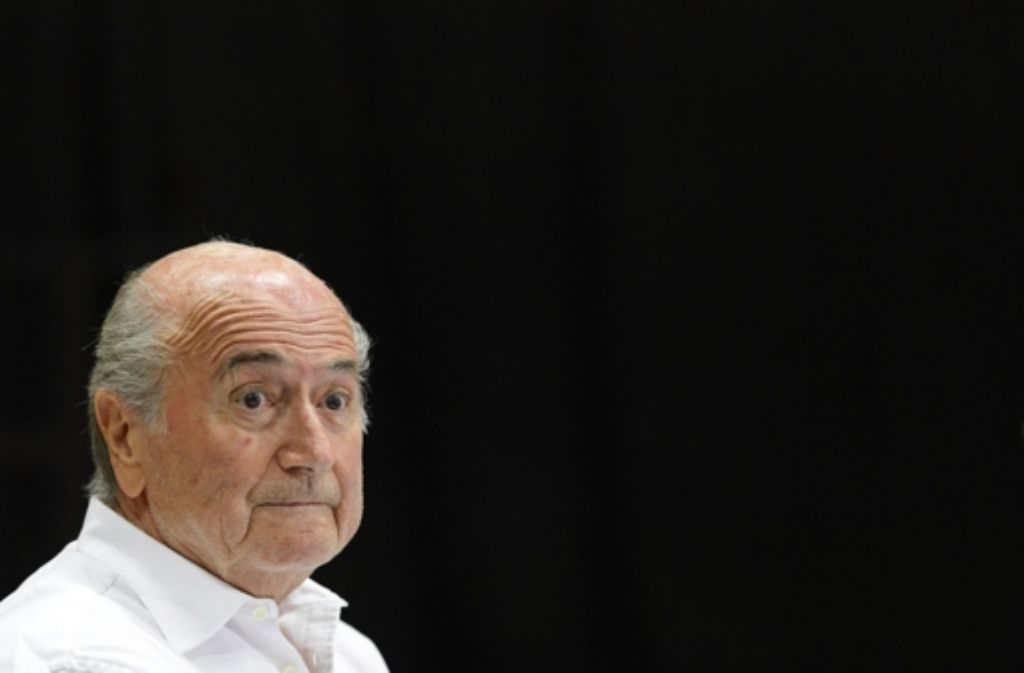 """Für die Zeitung """"Weltwoche"""" ist Joseph Blatter ein verkannter Kämpfer für den Fußball und für eine bessere Welt. (Archivfoto) Foto: dpa"""