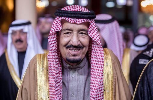Saudischer König Salman sagt Teilnahme ab