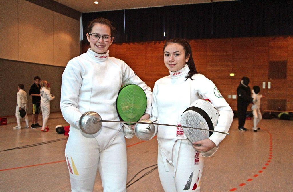Kerstin  Greul (links) wird sich am Schwarzen Meer mit Europas Besten messen. Anja Händler verpasst knapp die Qualifikation. Foto: se