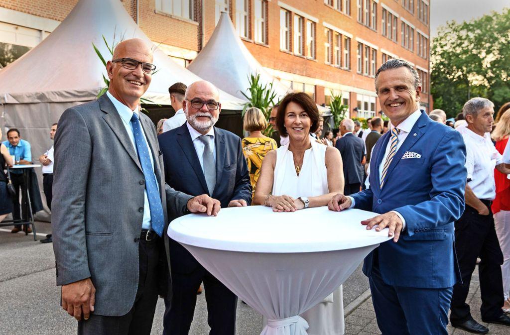 In Sommerlaune: Markus Höfliger, Lothar Buchfink, Angelika Schindler-Obenhaus, Frank Nopper (v. l.) Foto: