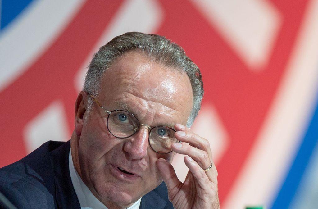 Karl-Heinz Rummenigge ist unzufrieden. Foto: dpa/Lino Mirgeler