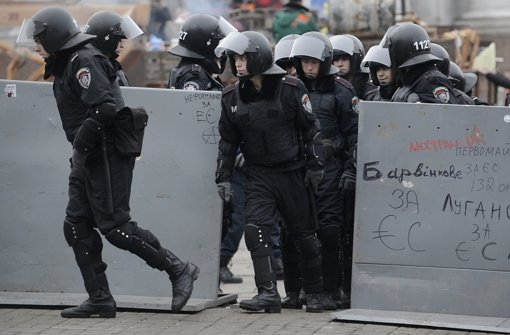 Verletzte EU-Anhänger in Kiew
