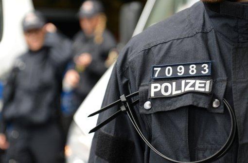 Ein Nummernschild für Polizisten