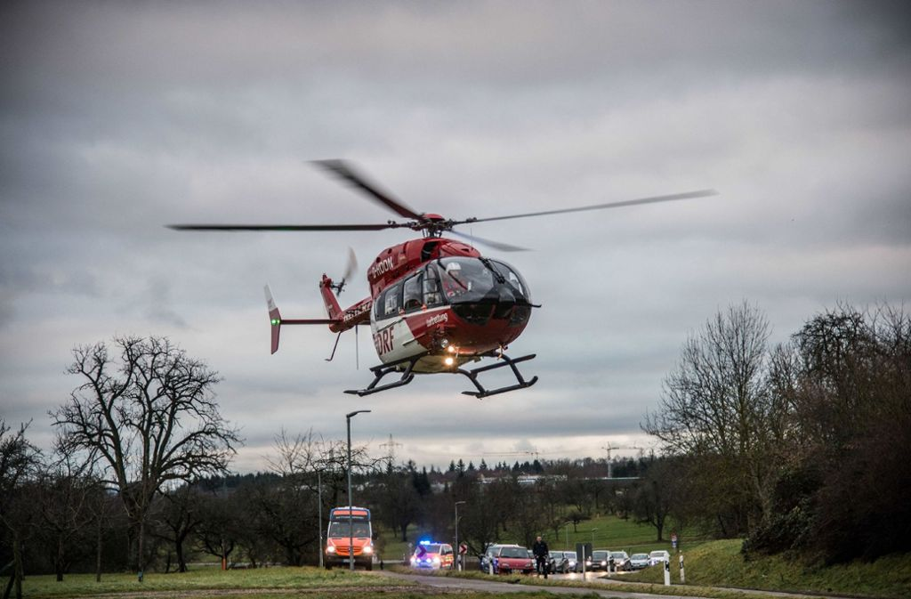 Ein Hubschrauber hat den Schwerverletzten in ein Krankenhaus geflogen. Foto: SDMG