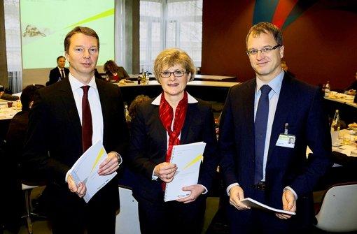Bernd Sieber, Elvira Benz und Thomas Kräh, die Leiter der Kliniken. Foto: Horst Rudel