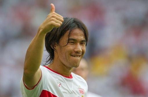 Spielt er mit dem VfB Stuttgart gegen Hertha BSC Berlin im rechten Mittelfeld: VfB-Mittelfeldspieler Shinji Okazaki. Foto: dpa
