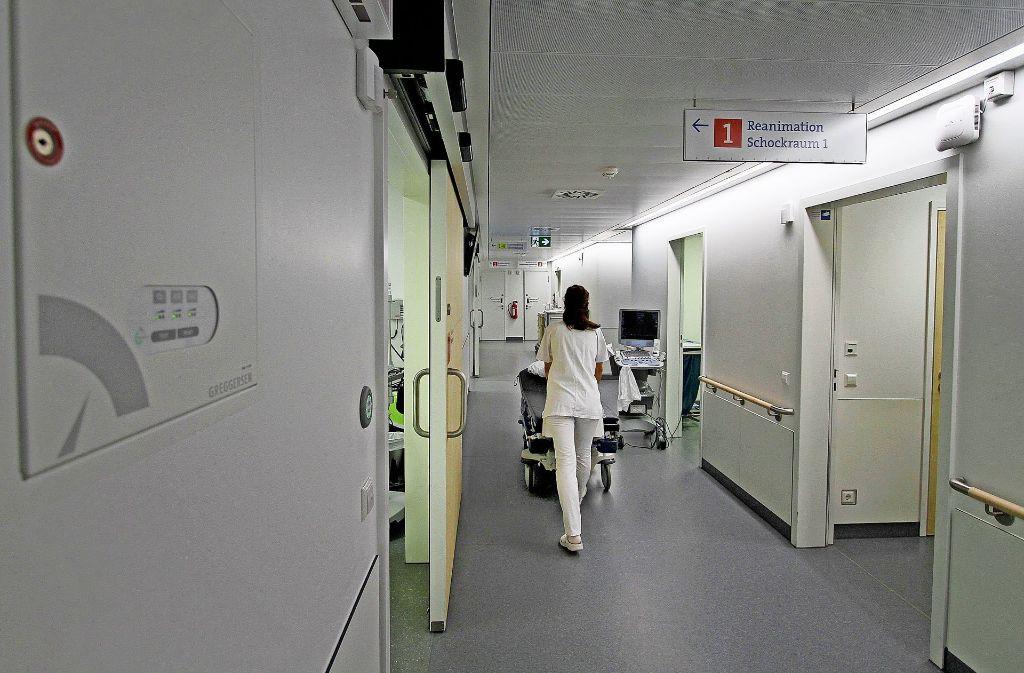 Um zumindest die Notaufnahme mit Strom zu versorgen, mussten am Mittwoch die Diesel-aggregate im Bauch des Klinikums Ludwigsburg anspringen. Foto: factum/Granville, Klinikum