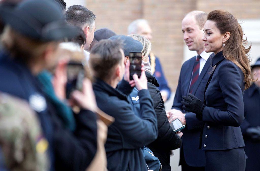 Ein Termin jagt den nächsten: Herzogin Kate und Prinz William. Eine Auswahl ihrer Termine im noch jungen Jahr 2020... Foto: AFP/RICHARD POHLE