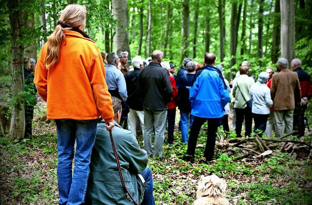 Eröffnung eines Friedwalds im Kreis Göppingen im Jahr 2012 Foto: Archiv Rudel