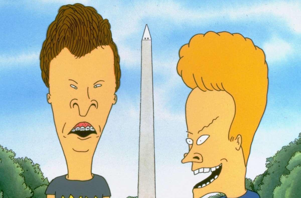 """""""Beavis und Butt-Head"""", eine Serie über zwei nicht allzu helle Halbstarke, startete 1993 auf dem Musiksender MTV und lief bis 1997. Foto: dapd/Anonymous"""