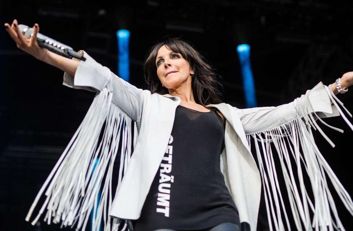 Pop-Sängerin Nena nimmt in einer Instagram-Story Bezug auf die Corona-Demo in Kassel. Foto: Lichtgut/Christoph Schmidt