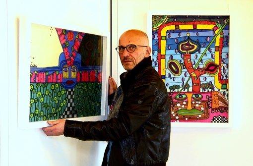 Mondrian trifft Haring trifft Hundertwasser