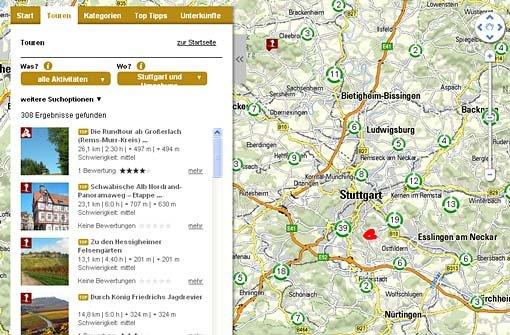 Der Tourenplaner für Stuttgart