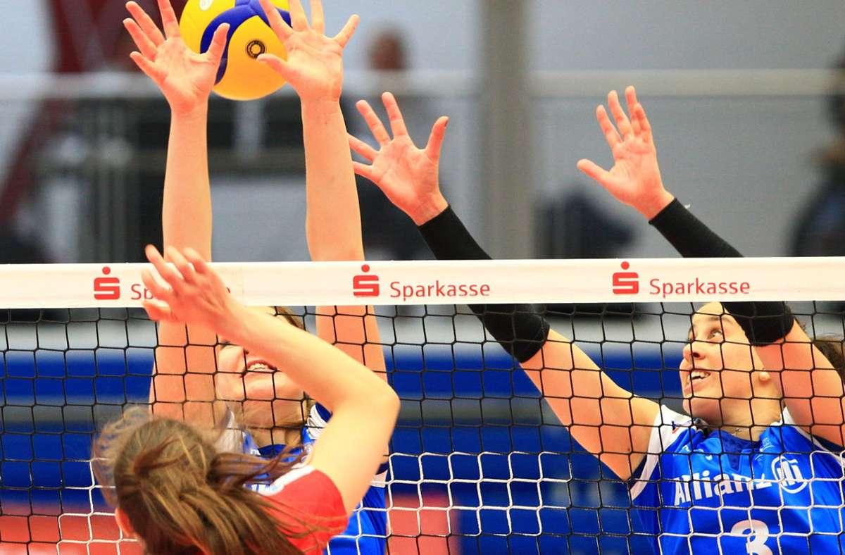 Die Volleyballerinnen vom Allianz MTV Stuttgart haben in Dresden verloren. Foto: dpa/Daniel Schäfer