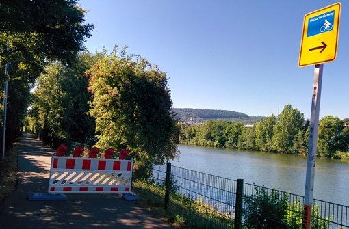 Neckartal-Radweg gesperrt
