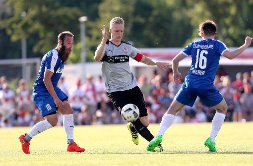 Ginczek und Zimmer veräppeln VfB-Kapitän Baumgartl