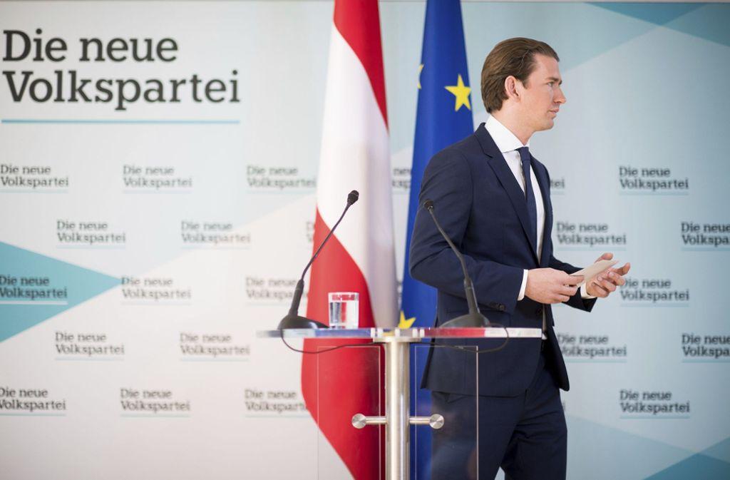 Am Montag muss sich Sebastian Kurz voraussichtlich zwei Misstrauensanträgen stellen. Foto: AP